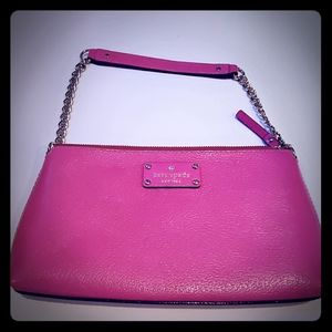 Kate spade pink purse with chain strap